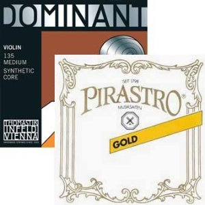 Dominant and Pirastro Gold Label E