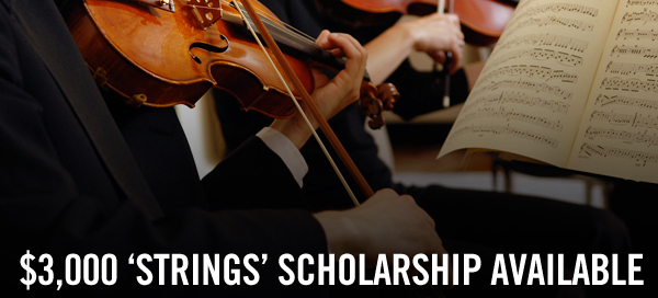 $3000 Strings Scholarship For College Violinists!