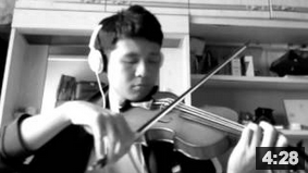 Amazing Grace My Chains Are Gone Violin Cover